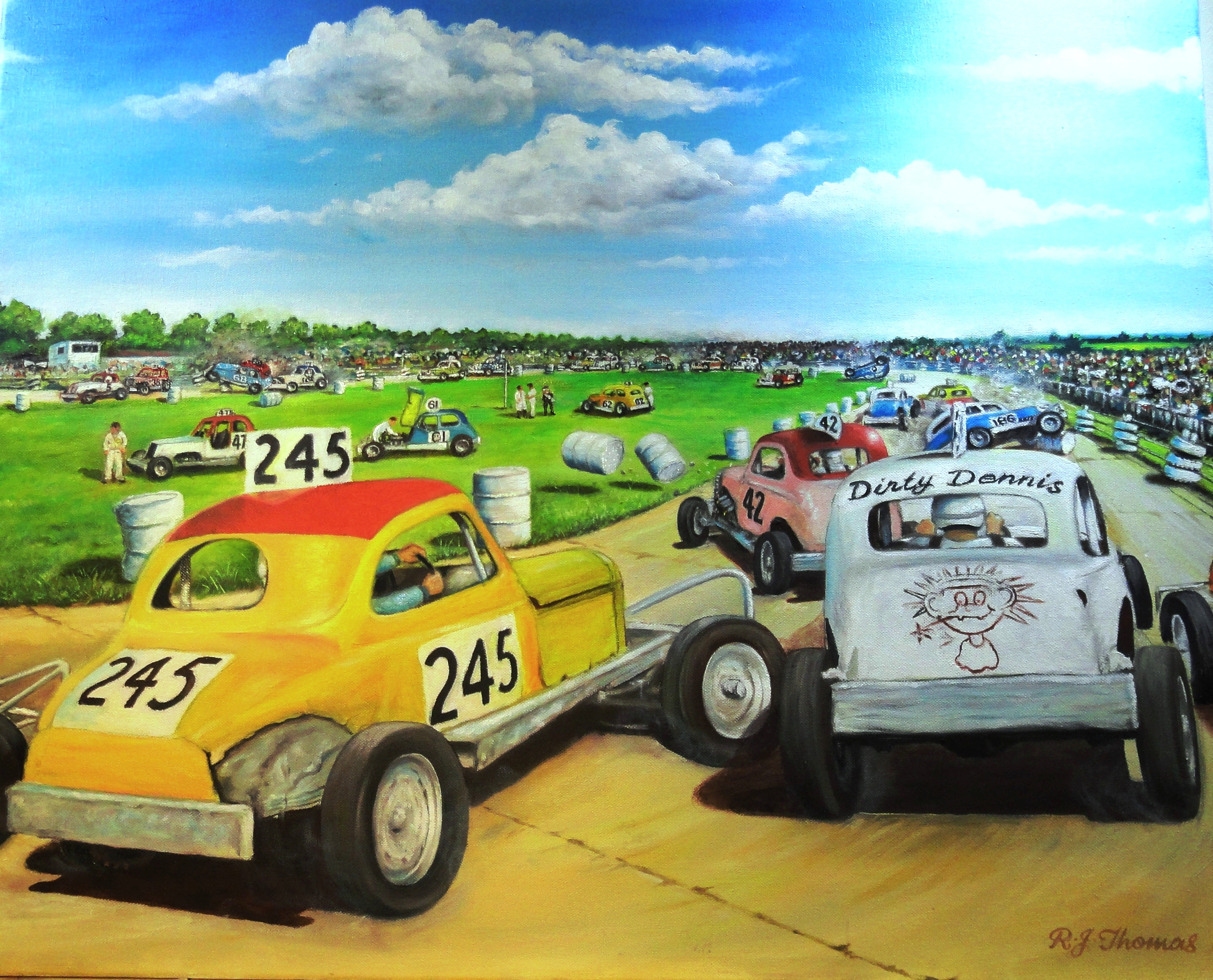 Stock car racing in britain 1950s 1970s what a brilliant and fond depiction of a perfect sunday afternoon under flawless summer skies out in the countryside with all our heroes and villains in fandeluxe Gallery